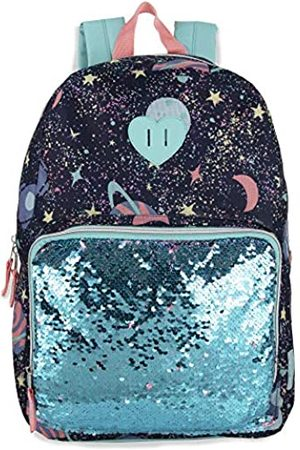 MADISON & DAKOTA Pailletten-Rucksack mit Farbwechsel, für Mädchen und Frauen, umgekehrte Pailletten