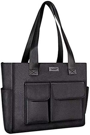 nuoku Tote Bag Wasserdichte Nylon Multi Pocket Handtasche Laptop Arbeitstasche Lehrer Geldbörse und Schultertasche für Frauen
