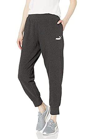 PUMA Damen Essentials Sweatpants Trainingshose, Dunkelgrau-Dark Grey Heather