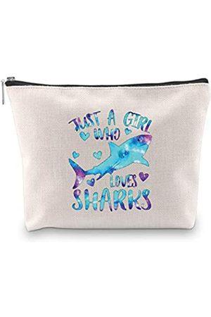 G2TUP Haifischgeschenke für Haifisch-Liebhaber, Reise-Organizer, Make-up-Tasche, nur ein Mädchen, das Hai liebt