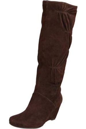 Kenneth Cole Forever Damen Stiefel mit Keilabsatz, Braun (dunkelbraun)