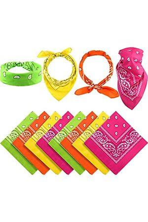 Blulu 12 Stück Paisley Bandanas Cowboy Bandana Unisex Print Kopf Wrap Schal Armband - - Mittel