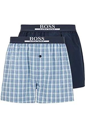 HUGO BOSS Herren 2P Boxer Shorts EW Pyjama-Shorts aus Reiner Baumwolle im Zweier-Pack