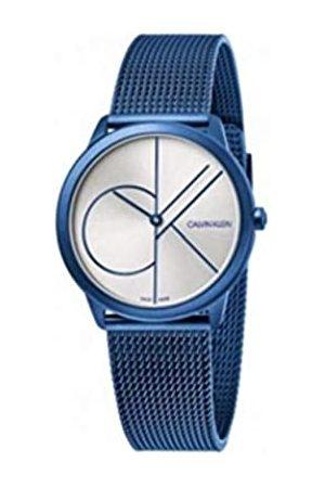 Calvin Klein Herren Analog Quarz Uhr mit Edelstahl Armband K3M51T56