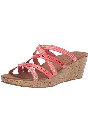 Skechers Women's Slide Wedge Sandal, Coral