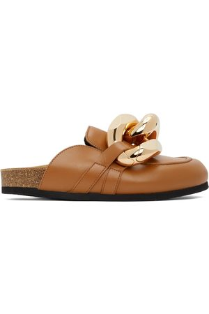 J.W.Anderson Tan Curb Chain Loafers