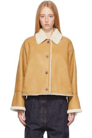 Loewe Tan Shearling Short Jacket