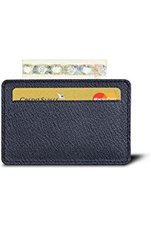 Lucrin Karten-Portemonnaie - Marineblau - Ziegenleder