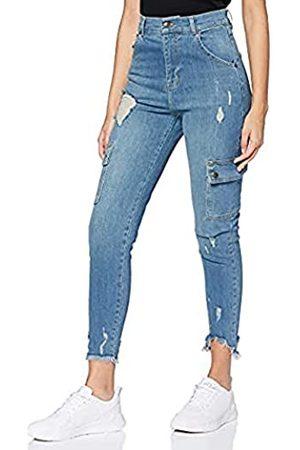 Gianni Kavanagh Damen Cargohosen - Damen Medium Blue Core Cargo Jeans