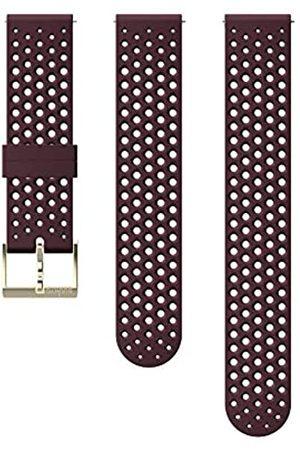 Suunto Ersatz-Uhrenarmband, für alle 3 Fitness Uhren, Silikon, Länge: 21,7 cm, Stegbreite: 20 mm, Burgund/Goldfarben, Inkl. Stifte zur Montage