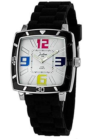JUSTINA Analog Quarz Uhr mit Gummi Armband 21971N
