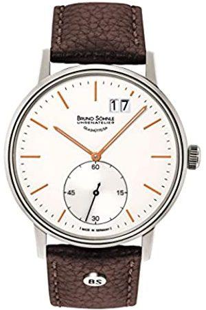 Soehnle Bruno Söhnle Herren Analog Quarz Uhr mit Leder Armband 17-13179-245