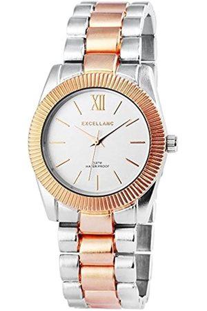 Excellanc Damen Analog Quarz Uhr mit Verschiedene Materialien Armband 150841500032