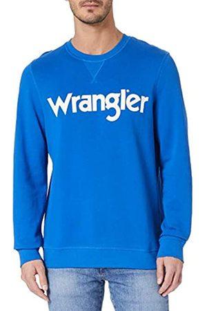 Wrangler Mens Crew Sweat Sweatshirt, Blue