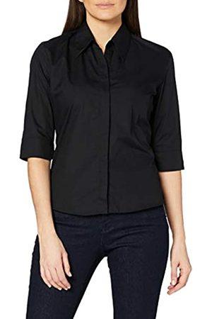 Kustom Damen Slim Fit Bluse Mandarin Collar Cap Sleeve By