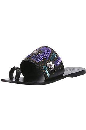 LFL by Lust for Life Damen L-Flawless Slide Sandale, (schwarzes Leder)