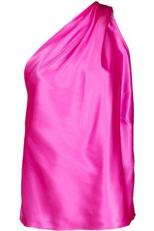 Michelle Mason Asymmetrische Bluse mit Drapierung
