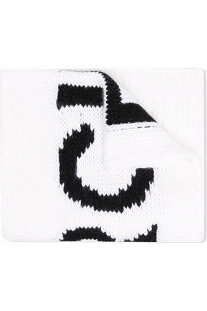 MM6 KIDS Intarsien-Schal mit Logo