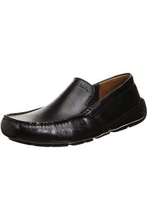 Clarks Herren Markman Plain Mokassin, Black Leather