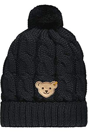 Steiff Mädchen mit süßer Teddybärapplikation Mütze, Navy