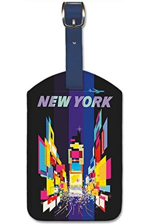 Pacifica Island Art Leatherette Luggage Baggage Tag - New York by David Klein