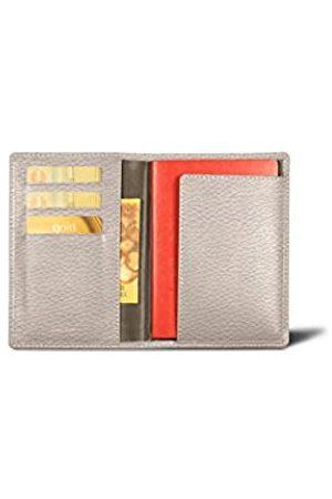 Lucrin Reisepass und Treue Kartenhalter - - Genarbtes Leder