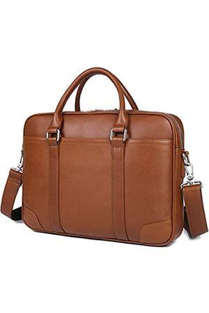 YOGCI Herren-Aktentasche aus Leder für Business-Arbeit