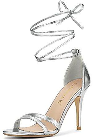 Allegra K Damen Stiletto-Absätze Sandalen mit offenem Zehenbereich