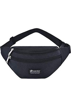 DAITET Bauchtasche für Männer Frauen Kinder Outdoor Workout Hüfttasche Verstellbarer Gürtel Wasserdichte Reisetasche Lauftasche Fit für iPhone Samsung (Pure Black)