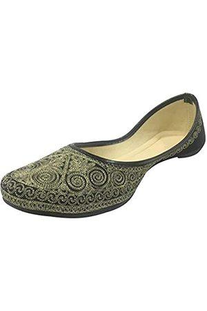 Step N Style Indischee Punjabi Jutti Brautschuhe Khussa Schuhe Mojari Perlen Sandalen