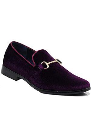 Enzo Romeo SPT03 Herren Vintage Einfarbig Samt Kleid Loafers Slip On Schuhe Klassische Smoking Kleid Schuhe, ( (Skaland))