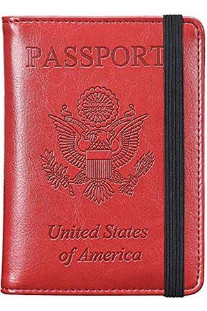 HerriaT Reisepasshülle aus Leder, RFID-blockierend