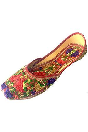 Step N Style Jooti Khussa Mojari Damen-Schuhe, Leder, Rot, (mehrfarbig)
