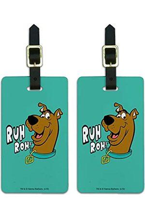 Graphics and More Scooby-Doo Ruh Roh Gepäckanhänger Koffer Handgepäckkarten – Set von 2