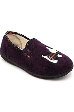 Padders Damen Dandie Flache Hausschuhe, (Purple 95)