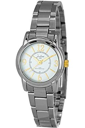 JUSTINA Analog Quarz Uhr mit Edelstahl Armband JPW51