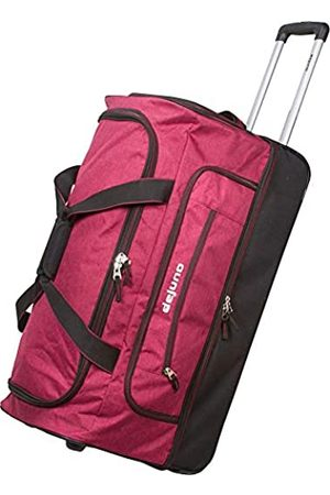 "Dejuno Unisex-Erwachsene 28"" Lightweight Denim Drop Bottom Rolling Duffel Bag-Burgundy Seesack"