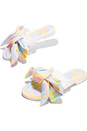 Cape Robbin Babo Flache Sandalen für Damen, Pantoletten, Schlupfschuhe, Weiß (pastellfarben)