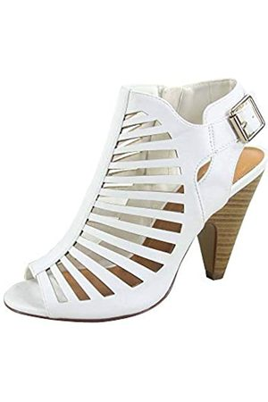 Generic FZ-Shaky-s Damen Sexy Riemchen Peep Toe Slingback Schnalle Chunky Heel Sandalen Schuhe, ( / stapelbar)
