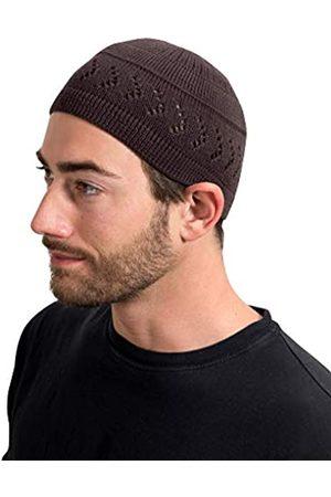 SnugZero 100% Baumwolle Kufi Beanie mit Pfeil Gitter Häkeln für Damen und Herren - - Einheitsgröße
