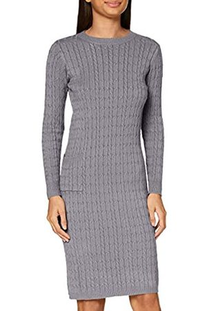 Apart Damen Knitted Cabel Dress Lässiges Kleid