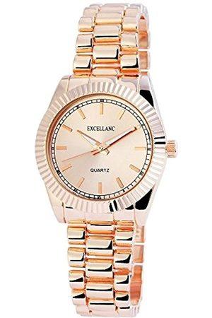 Excellanc Damen Analog Quarz Uhr mit Verschiedene Materialien Armband 180635500002