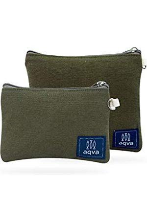 AQVA Set mit 2 umweltfreundlichen Baumwoll-Leinen-Beuteln   Reise-Organizer