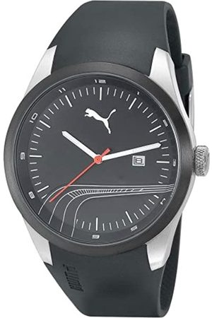 PUMA Time Herren-Armbanduhr XL Stripe Silver Black Analog Quarz Plastik PU102531001