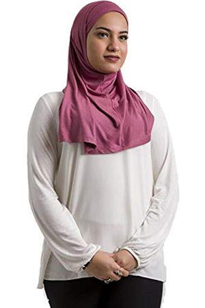 Dare Al Ameera Hijab Kapuze aus leichtem Baumwoll-Lycra, 2-teilig, einfarbig, für Frauen