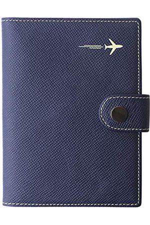 Borgasets Reisepasshülle aus echtem Leder, RFID-blockierend, für Reisepass, Ausweis