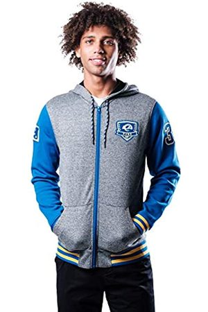 Ultra Game Herren Full Zip Hoodie Letterman Varsity Jacket for Men Fleece-Kapuzenjacke mit durchgehendem Reißverschluss