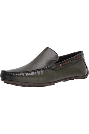 Driver Club USA Herren Made in Brazil Luxus Leder venezianischer Loafer Driving Style, Grn (Nappa Oliv)