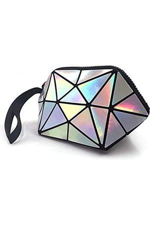 LONGJET CRAFTING THE CORE LJ Longjet Kleine Make-up-Tasche Holografische geometrische faltbare Kosmetiktasche für Geldbörse
