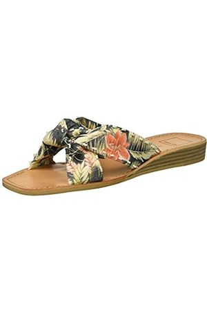 Dolce Vita Women's HAVIVA Slide Sandal, Coral Multi Floral Print